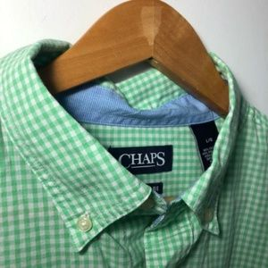 Chaps Shirts - Chaps | gingham button down top